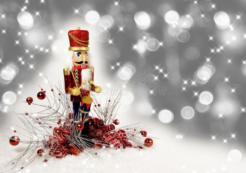 Baterista do Nutcracker do Natal fotografia de stock royalty free