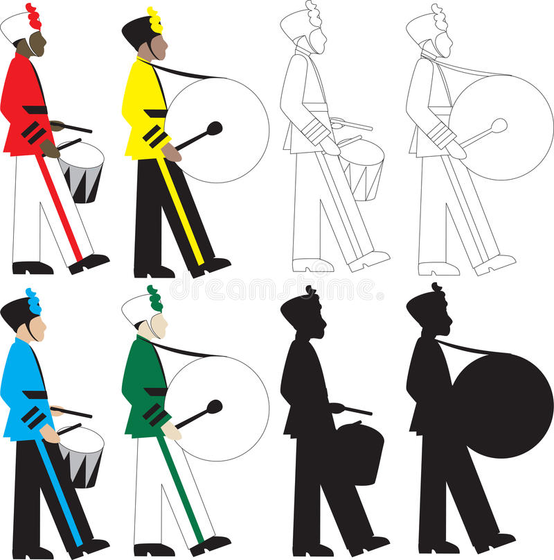 Bateristas ilustração royalty free