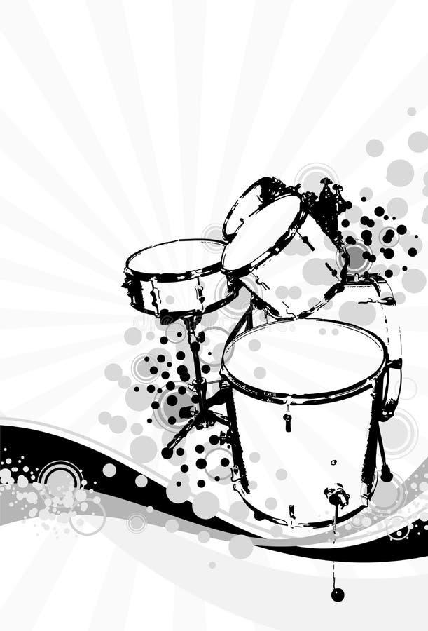 bateristas ilustração stock