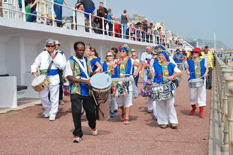 Bateristas do samba da nação de Dende fotografia de stock royalty free