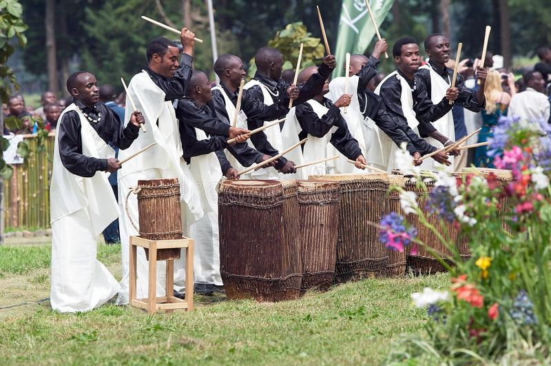 Bateristas ruandeses imagem de stock