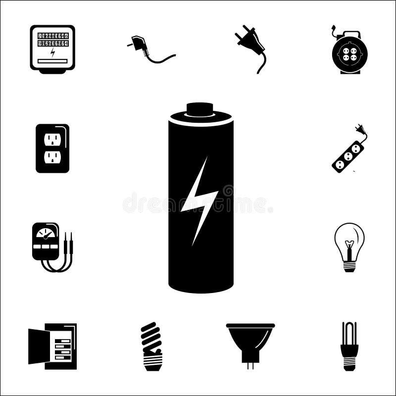 Bateryjna ładuje ikona Set Energetyczne ikony Premii ilości graficznego projekta ikony Znaki i symbol inkasowe ikony dla stron in ilustracja wektor