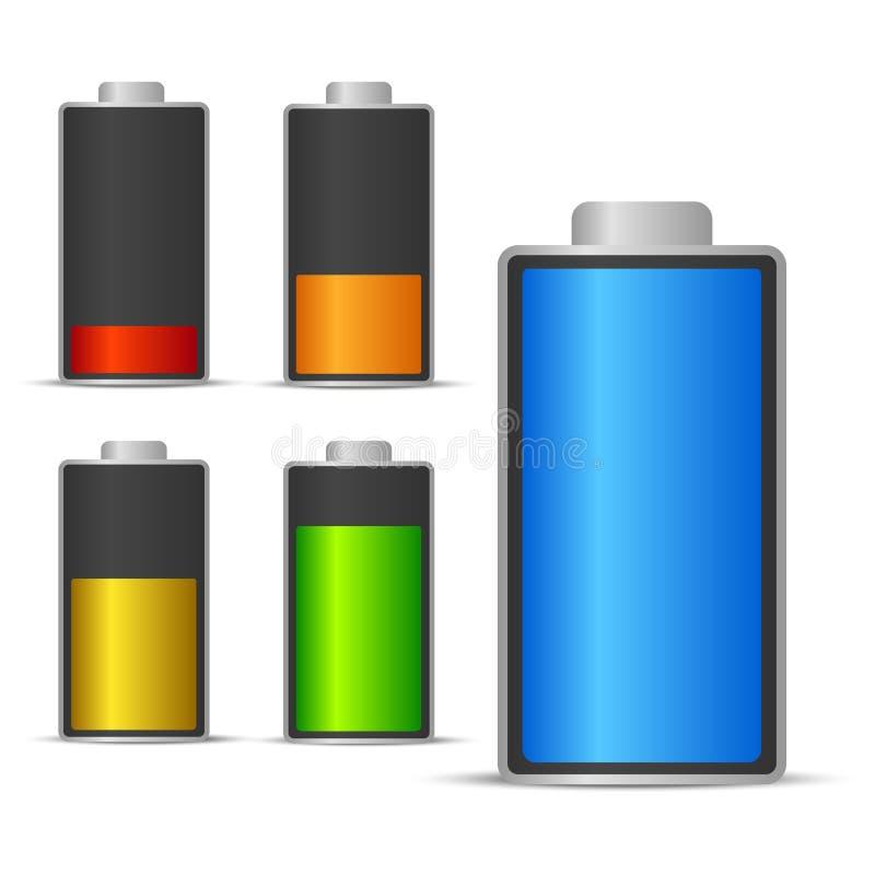 Bateryjna ładuje status ikona ilustracja wektor
