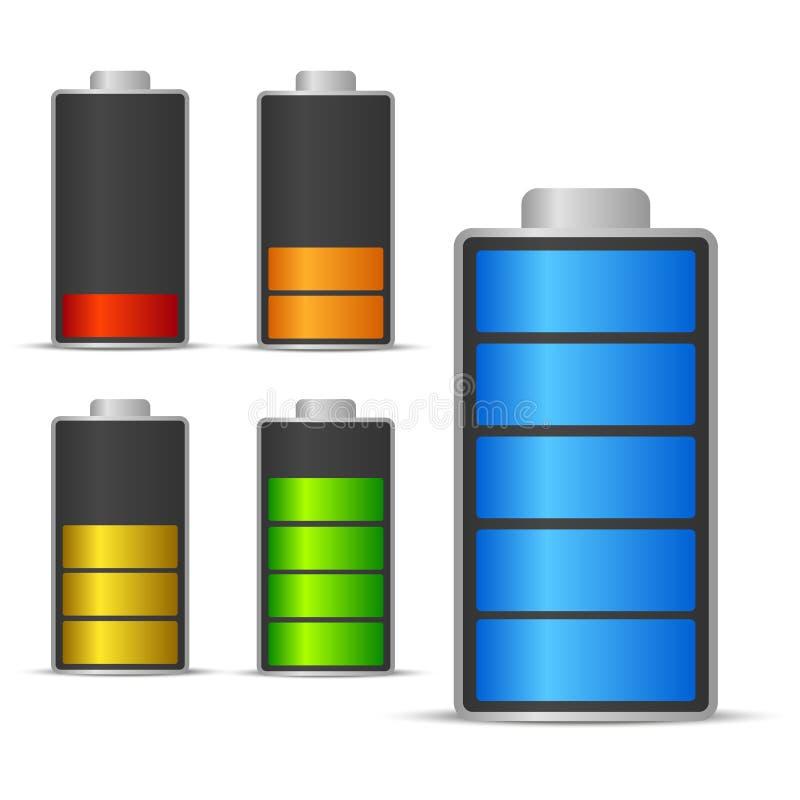 Bateryjna ładuje status ikona ilustracji