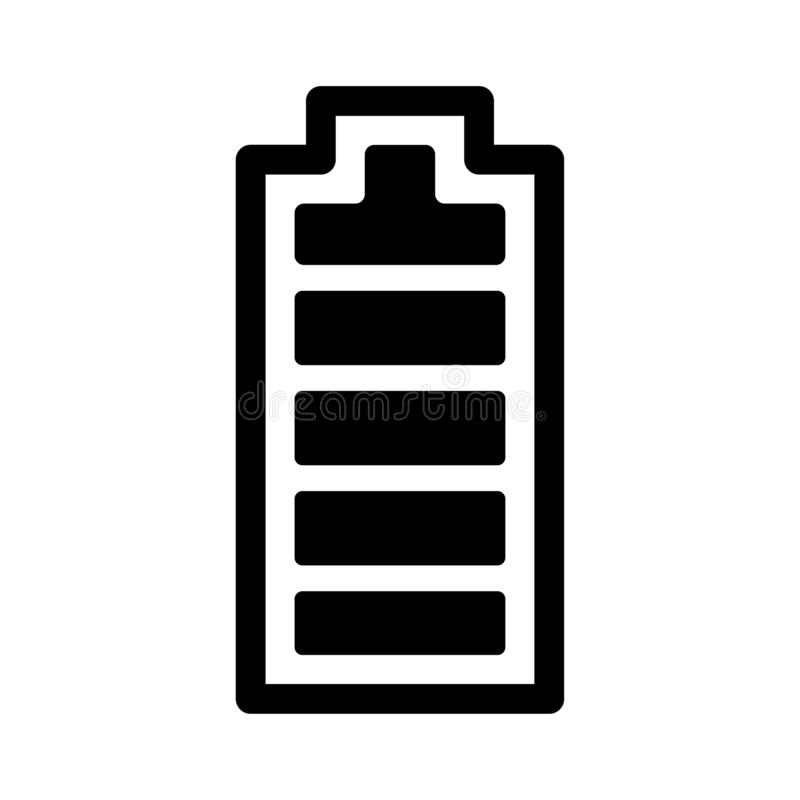 Bateryjna wektorowa ikona royalty ilustracja