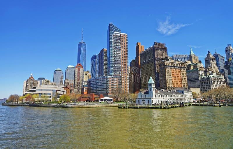 Bateryjnego parka molo A w lower manhattan Nowy Jork zdjęcie royalty free