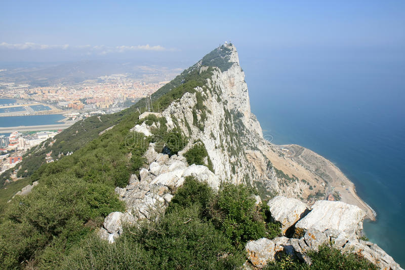 bateryjny Gibraltar hara królestwo o s jednoczący obrazy stock