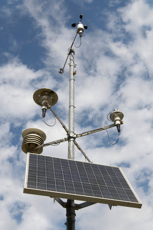 bateryjnych przyrządów meteorologiczny słoneczny zdjęcia royalty free