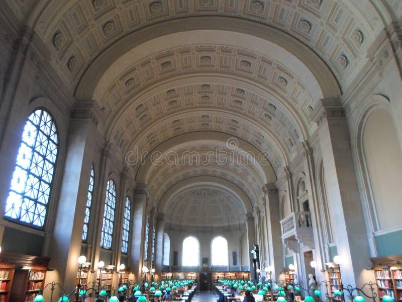Bates Hall, biblioteca de Boston Public, Boston, Massachusetts, EUA fotografia de stock royalty free