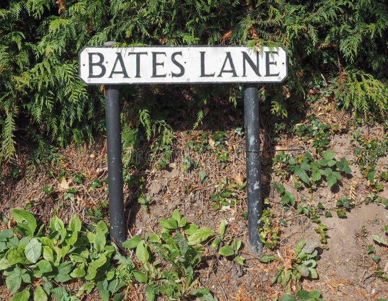 Bates Lane em Tanworth em Arden fotografia de stock royalty free