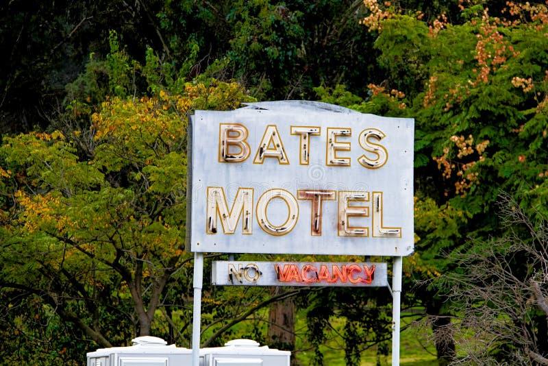 Bates Motel Sign lizenzfreie stockbilder