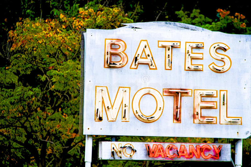 Bates Motel Sign imagens de stock royalty free