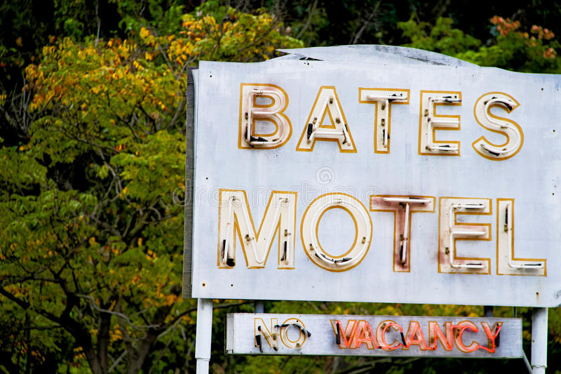 Bates Motel Sign foto de stock royalty free