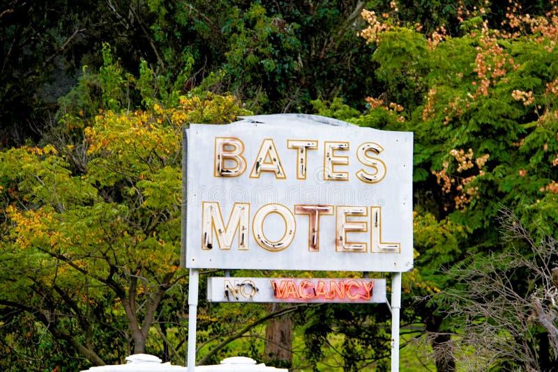 Bates Motel Sign lizenzfreies stockfoto