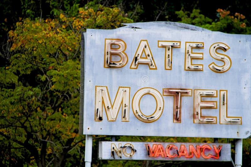 Bates Motel Sign imagem de stock royalty free