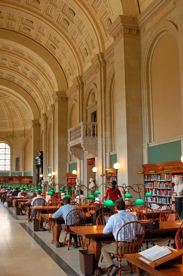 Bates Reading Room, biblioteca de Boston Public imagem de stock royalty free
