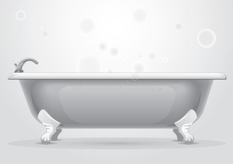 Bath. Illustration on gray background