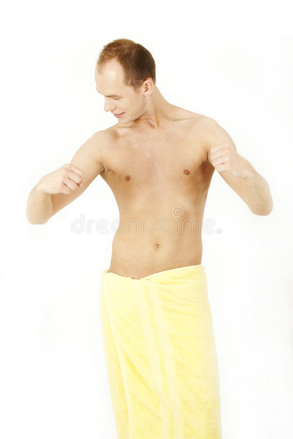 Download After bath stock photo. Image of white, waist, sheet - 24865316
