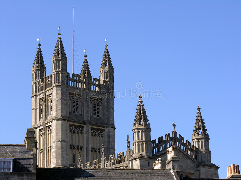 Download Bath Abbey In England stock photo. Image of landmark, abbott - 649932
