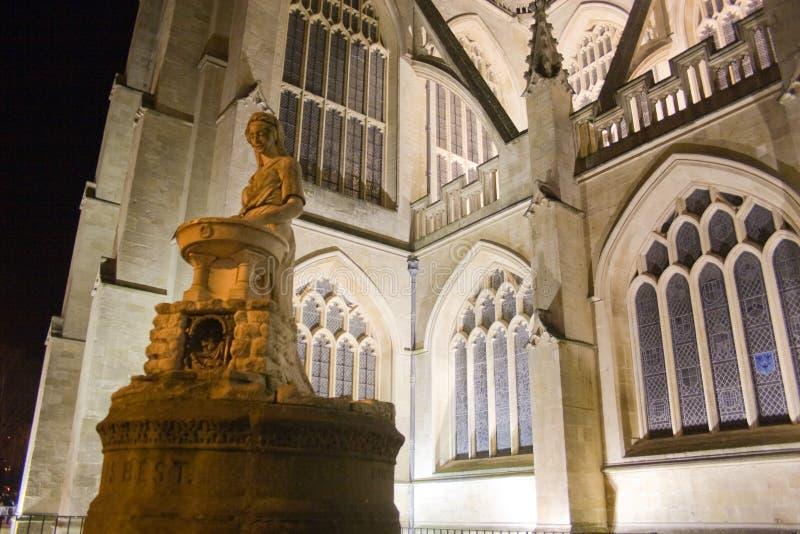Bath Abbey at night royalty free stock photos
