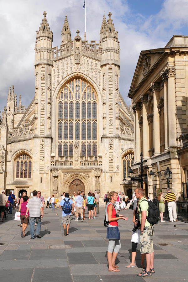 Download Bath Abbey And The Roman Baths In Bath England Editorial Photography - Image of cathedral, classical: 22812227