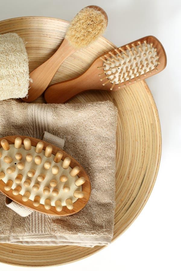 Bath accessories stock photos