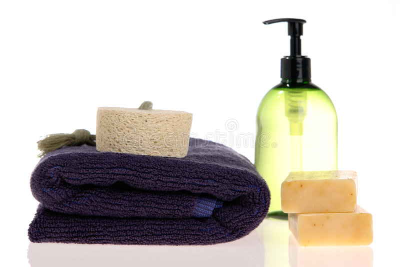 Download Bath Accessories stock photo. Image of items, bottle, cleanse - 2310802