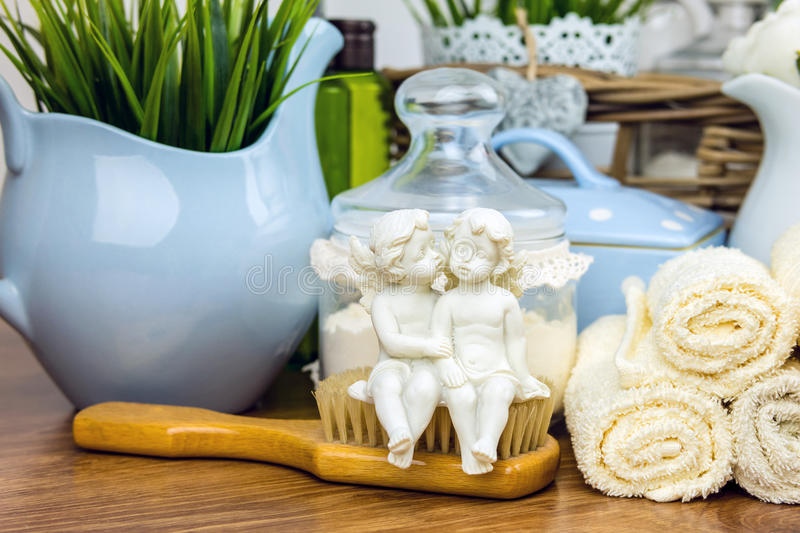 Bath accessories. Personal hygiene items. royalty free stock image