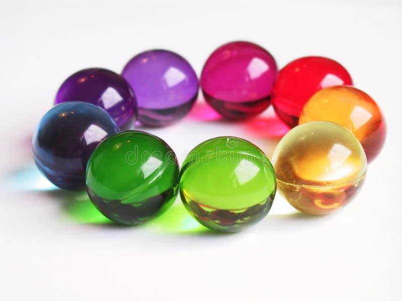 Bath balls rainbow circle stock image