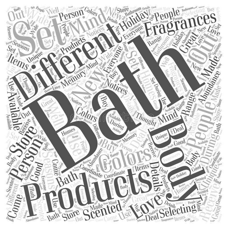Bath and body 19 word cloud concept background. Text vector illustration
