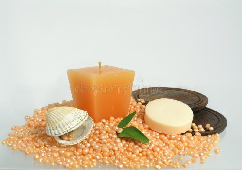 Bath caviar - luxury body care stock photo