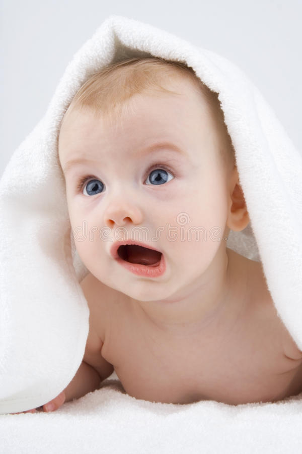 bath child 免版税库存图片