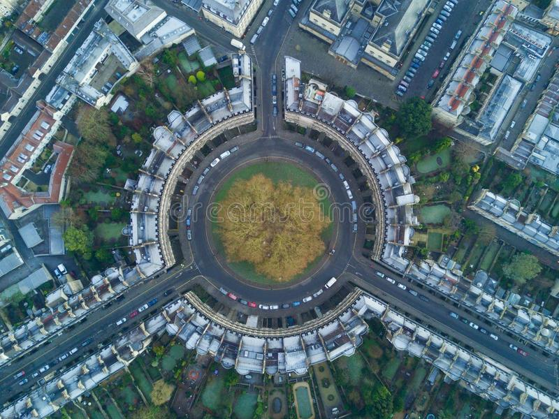 Bath Circus from the drone royalty free stock photos