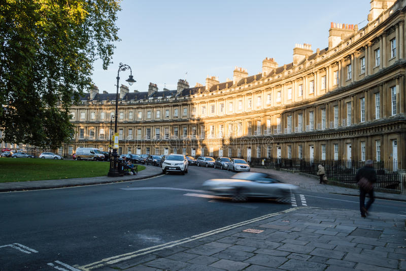 Bath, The Circus. ENGLAND, BATH - 29 SEP 2015: The Circus royalty free stock images