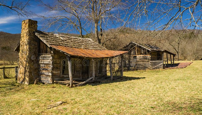 Log Cabins for Slave Labor royalty free stock photo