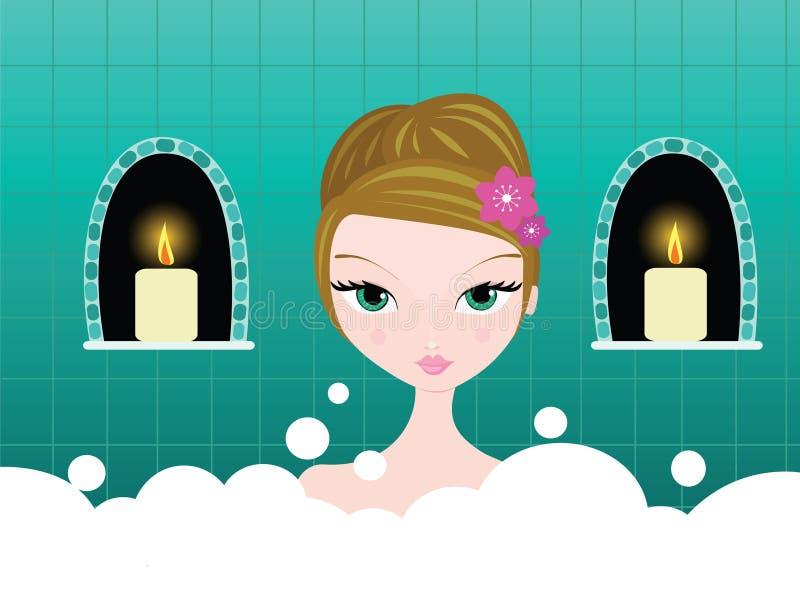 Bath de bulle illustration de vecteur