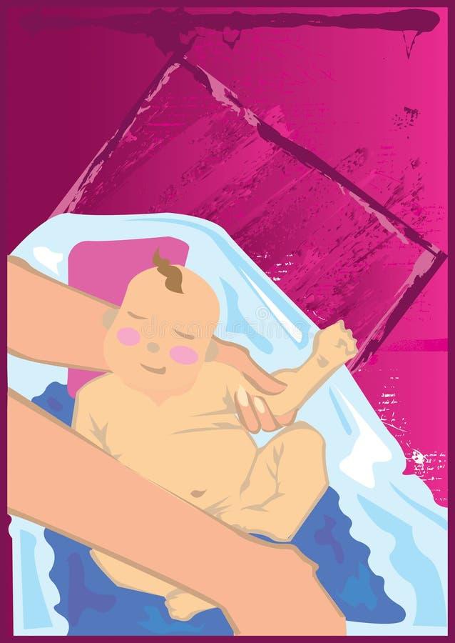 Bath de chéri illustration stock