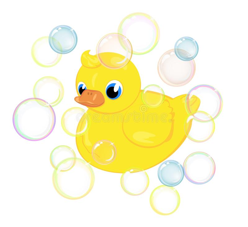 Download Bath duckling stock vector. Illustration of bright, colorful - 15645845