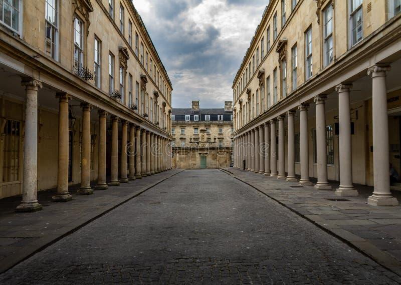 Bath, England with Georgian columns stock photos