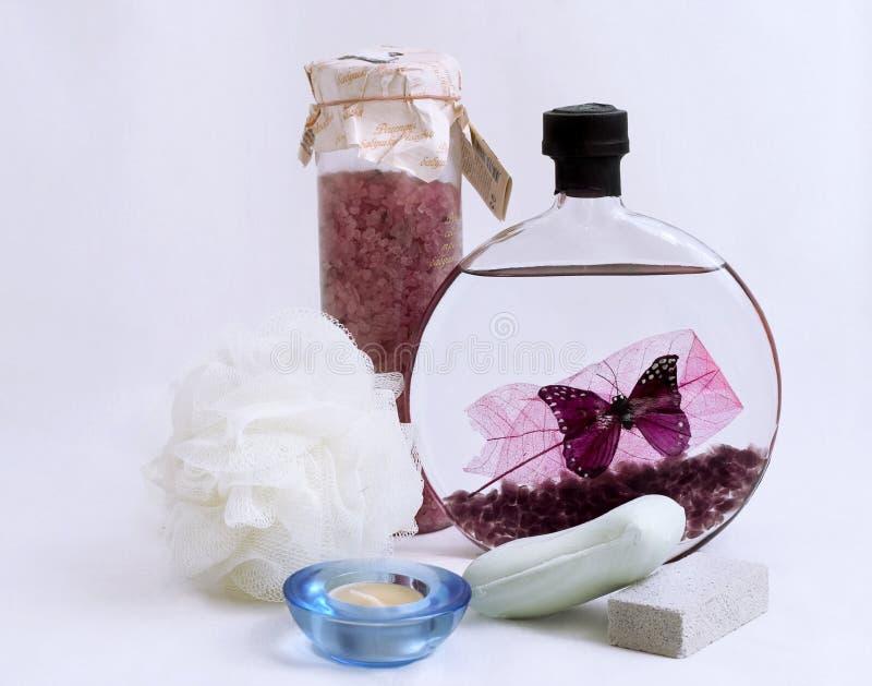 Bath essentials royalty free stock image