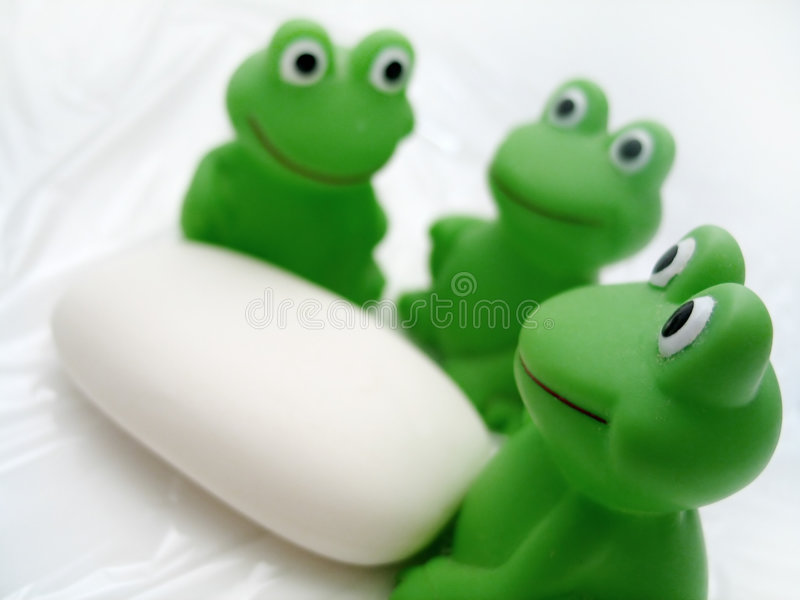 Bath Frogs and Soap stock image