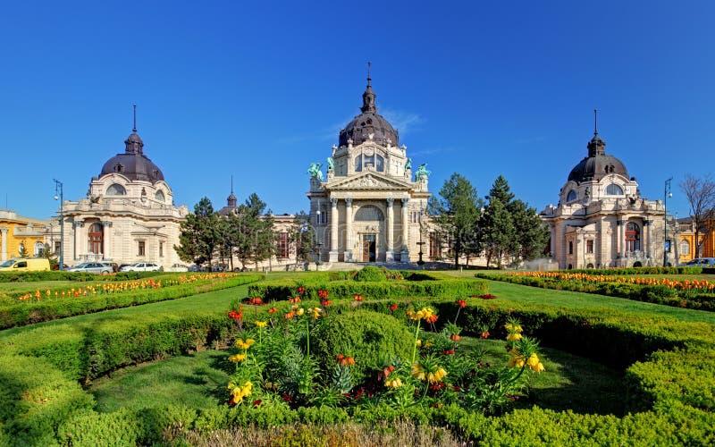 Bath médicinal de Szechenyi à Budapest, Hongrie photographie stock libre de droits