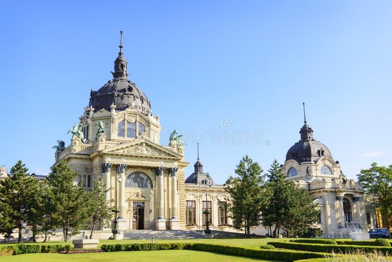 Bath médicinal de Szechenyi. Budapest. Hongrie photo libre de droits