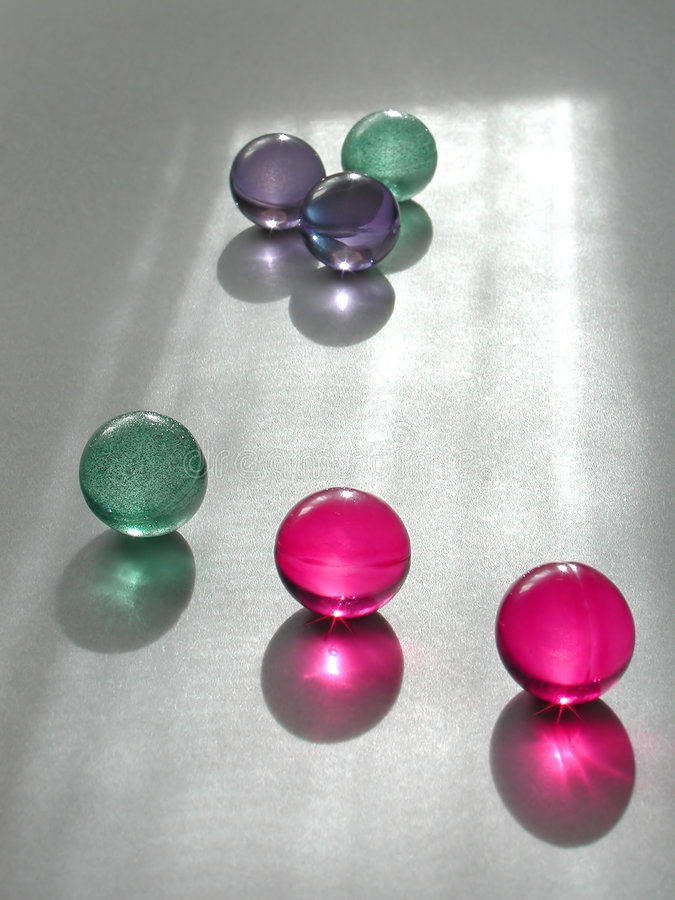 Bath marbles race royalty free stock photography