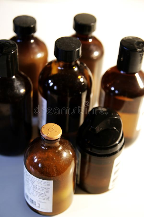 Bath oils 2 stock images