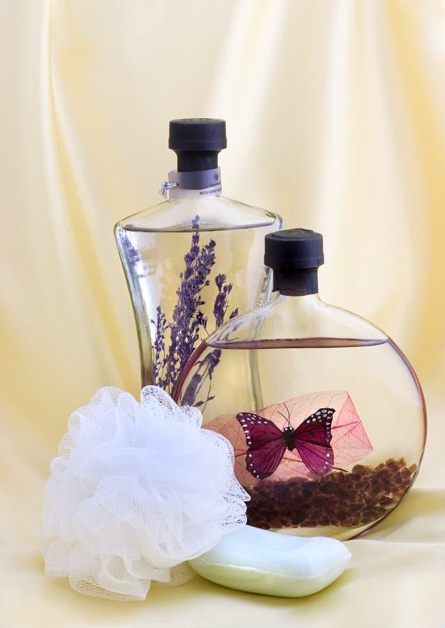 Bath oils and soap stock photos