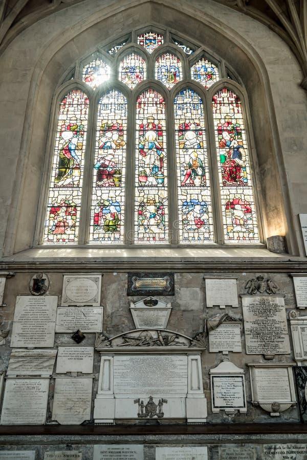 Bath, Regno Unito - 30 AGO 2019: Interno della Chiesa dell'Abbazia di San Pietro e San Paolo, comunemente conosciuta come Abbazia immagine stock