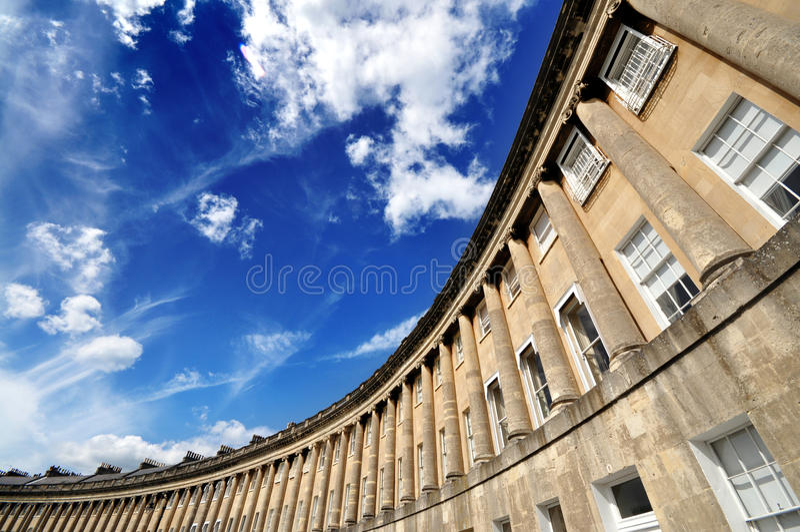 Bath Royal Crescent royalty free stock photography