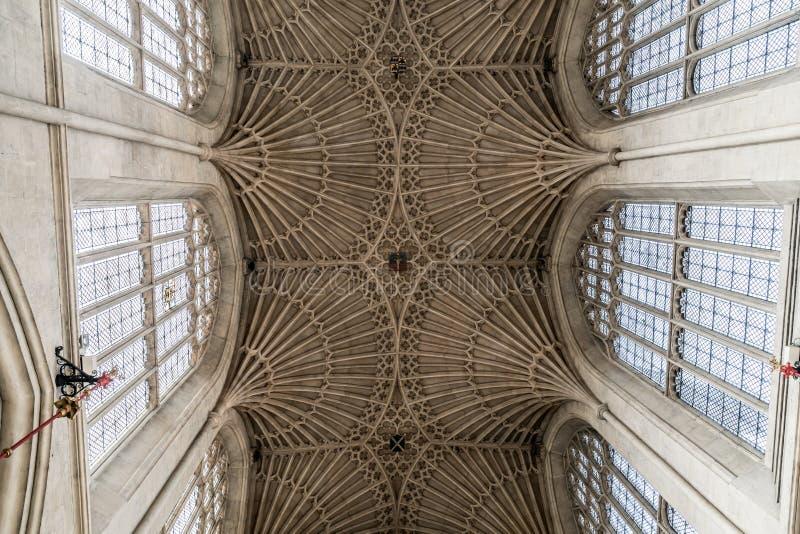 Bath, Royaume-Uni - 30 août 2019 : Intérieur de l'abbaye de StPeter et StPaul, communément appelée abbaye de Bath photos stock