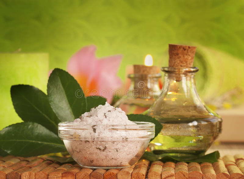 Bath salt stock images